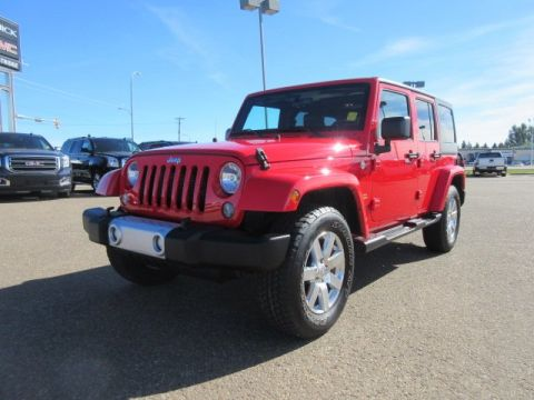Certified Pre-Owned 2015 Jeep Wrangler Unlimited Sahara. Text 780-205-4934 for more information! 4WD