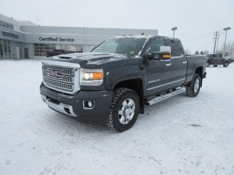 New 2018 GMC Sierra 3500HD Denali. Text 780-872-4598 for more information! PRICE INCLUDES DURATRAC TIRE UPGRADE Crew Cab Pickup
