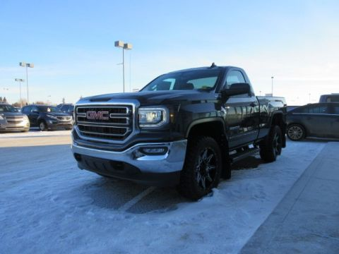 New 2018 GMC Sierra 1500 SLE. Text 780-872-4598 for more information! INCLUDES LEVEL KIT AND WHEEL PKG Regular Cab Pickup