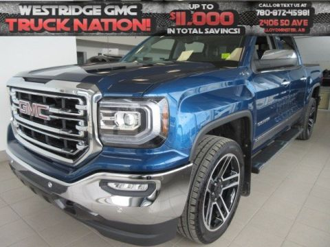 New 2018 GMC Sierra 1500 SLT. Text 780-872-4598 for more information! INCLUDES 22'S AND TONNEAU Crew Cab Pickup