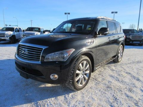 Pre-Owned 2012 INFINITI QX56 7-passenger. Text 780-205-4934 for more information! With Navigation & 4WD
